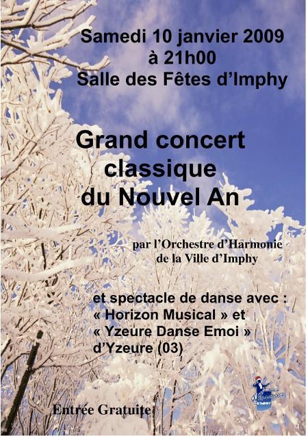 Affiche du Concert du Nouvel An de l'OHVI
