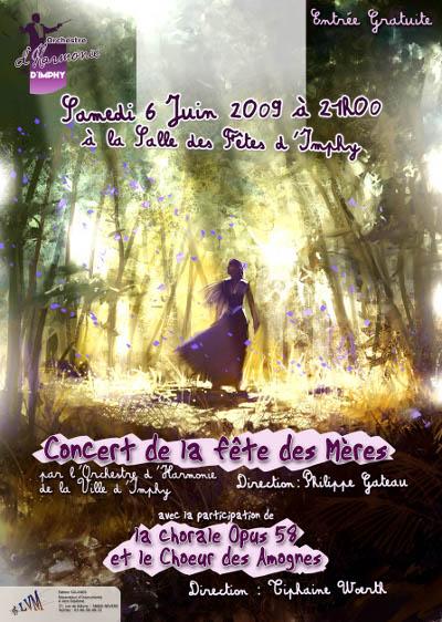 Affiche du Concert de la Fête des Mères