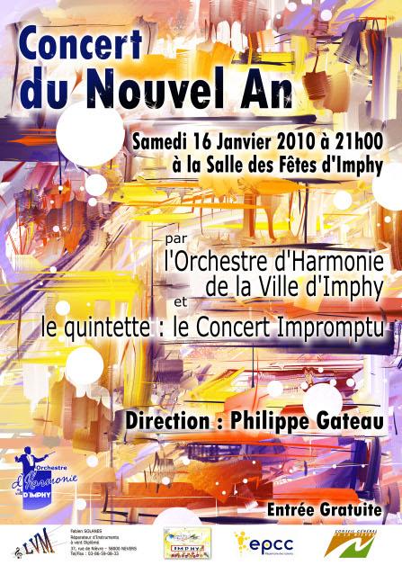 Affiche du Concert du Nouvel An 2010 de l'OHVI