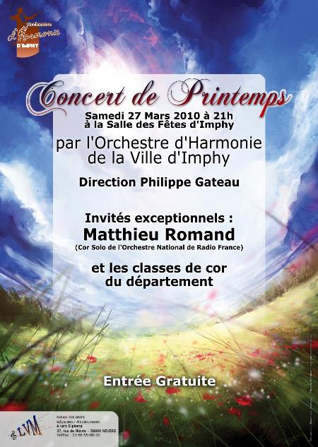 Concert de Printemps 2010, avec la participation exceptionnelle de Matthieu Romand.