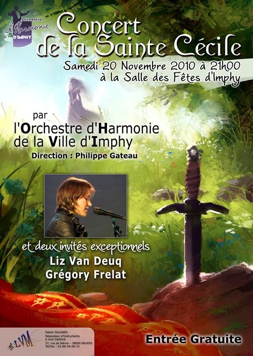 Rendez-vous le 20 novembre pour le concert de la Sainte Cécile de l'OHVI avec Liz van Deuq et Grégory Frelat !