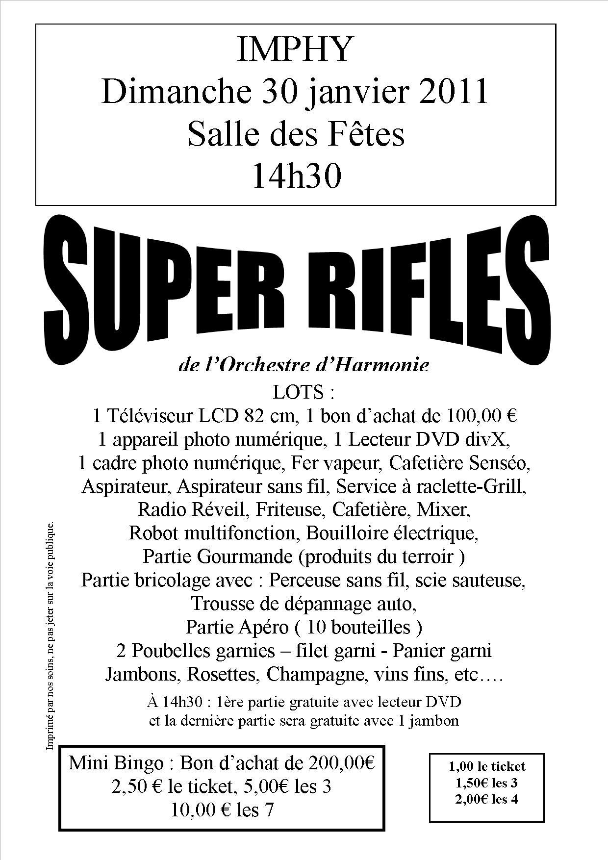 Participez aux Super Rifles de l'OHVi et gagnez de nombreux lots de choix !