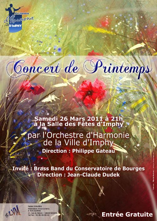 Affiche du concert de printemps 2011 de l'OHVI