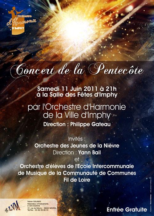 Vous êtes conviés au Concert de la Pentecôte de l'Orchestre d'Harmonie de la Ville d'Imphy