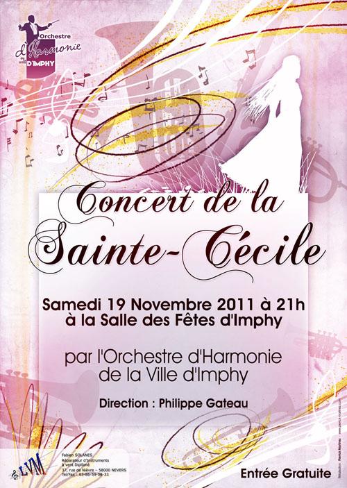 L'affiche du concert de la sainte cécile 2011 par l'ohvi