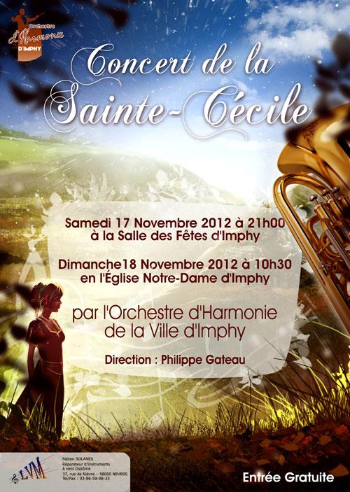 L'affiche du concert de la Sainte Cécile de l'OHVI pour 2012