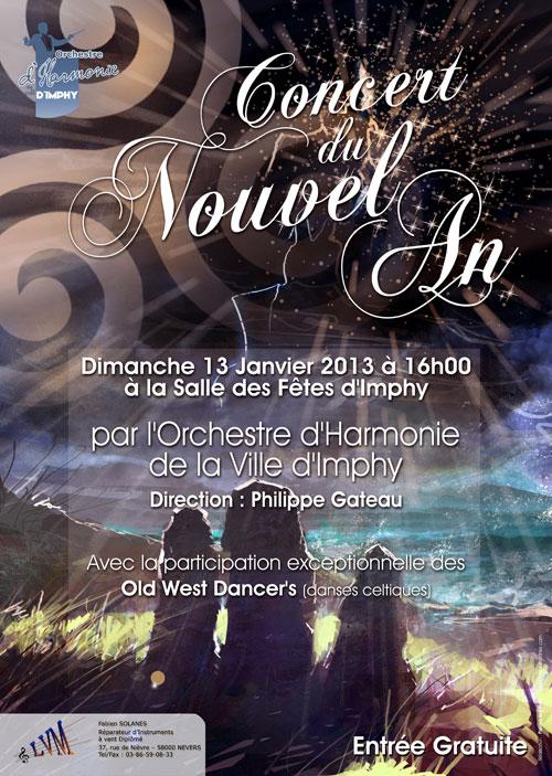 Affiche du Concert du Nouvel An 2013 de l'OHVI
