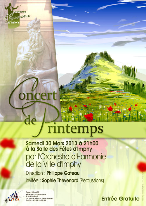 Affiche du concert de printemps 2013 de l'OHVI