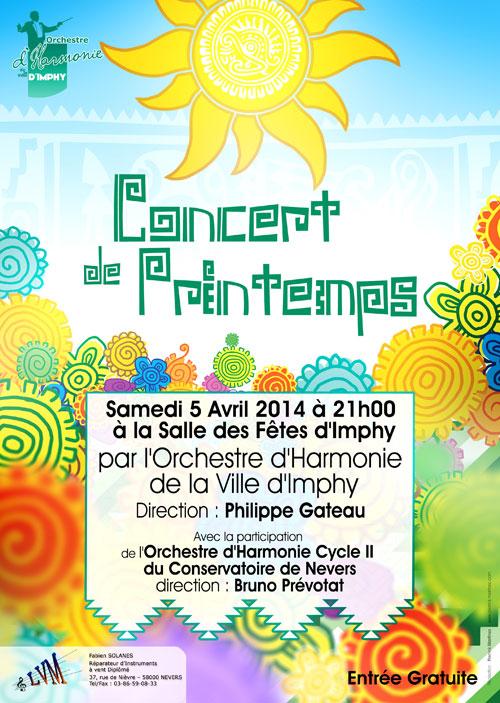 Affiche du concert de Printemps 2014