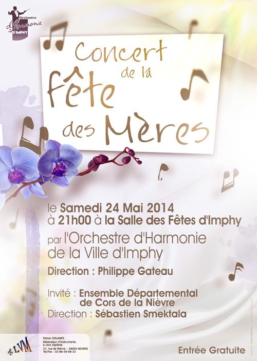 affiche du concert de fête des mères 2014