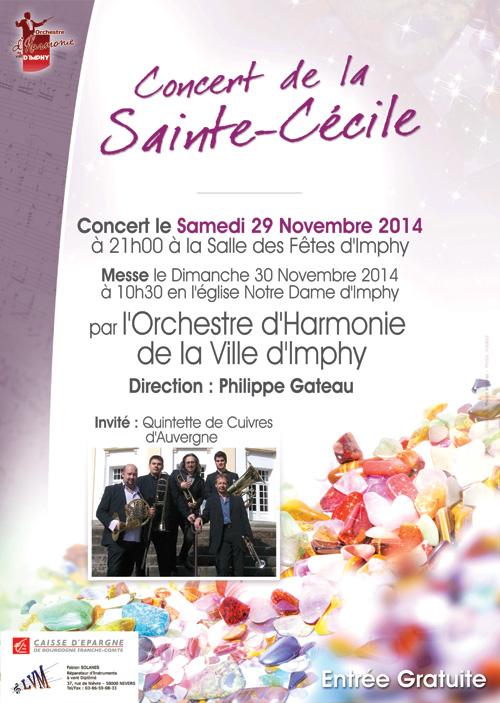 Affiche du concert de la Sainte Cécile 2014 de l'OHVI